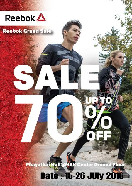 มหกรรมลดแรงแห่งปี Reebok Grand Sale up to 70%