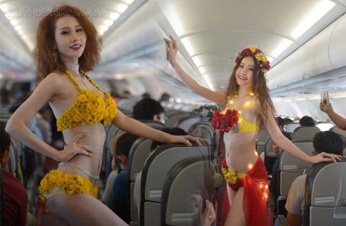 บิกินี่ดอกไม้บานสะพรั่งบนเที่ยวบินปฐมฤกษ์ กรุงเทพฯ – ดาลัด