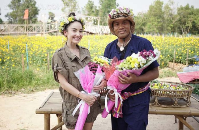 ไมค์ ภิรมย์พร - โอซา แวง พาทัวร์สวนดอกไม้ ทำภารกิจแจกไอศกรีมมะม่วง ในรายการ เที่ยวบ้านพี่ไมค์ ซีซั่น 2