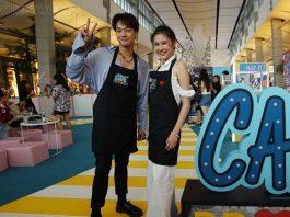 สุดตื่นเต้น แพท ชวน โอบ-นาน่า คว้าผ้ากันเปื้อนช่วยเรียกลูกค้า ในรายการ Café Project