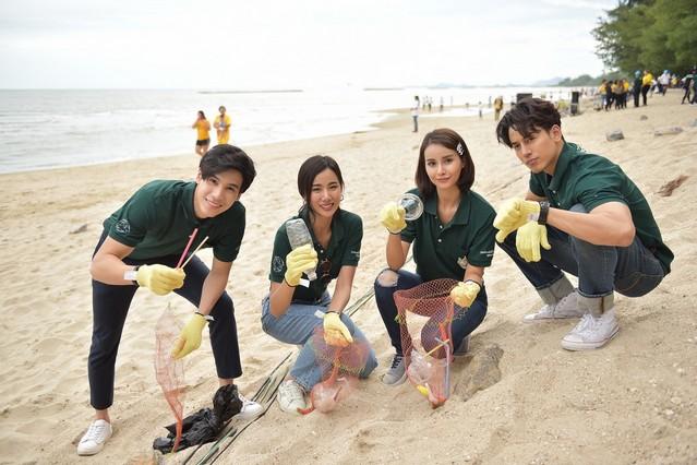 เจษ-น้ำฝน-ญิ๋งญิ๋ง-ป๊อบ ตัวแทนดาราจิตอาสา ร่วม กิจกรรม Good Day  Say No Plastic Bag  On The Beach